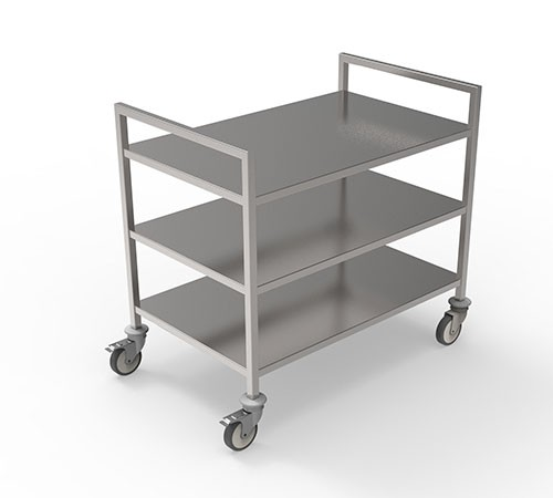 50.103.573 Open transport trolley with shelves