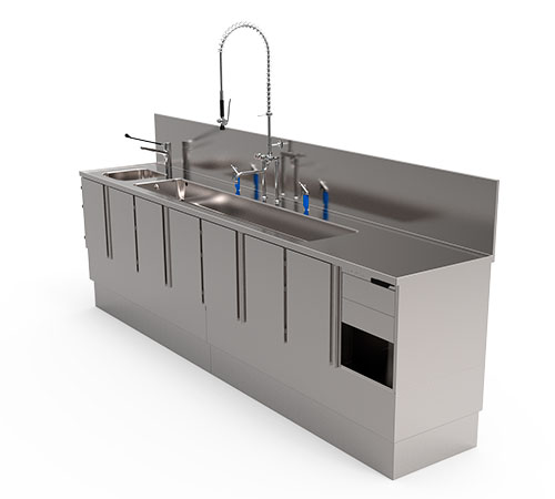 Clean-up Counter For Endoscopes