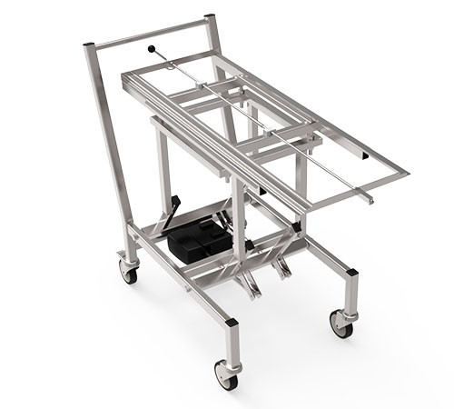 Electrical Height Adjustable Transport Trolleys