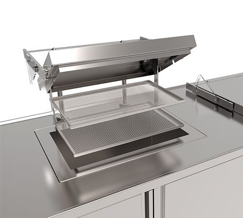 Fully automatic Pre-Cleaning station detail