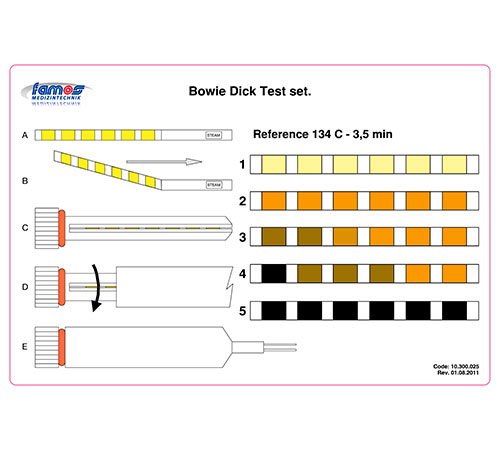 Bowie Dick Test set Reference
