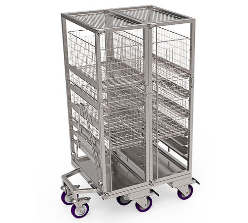 Open Transport Trolley With Slides